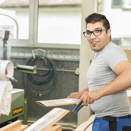 AuftragArbeit unsere Werkstätten übernehmen für gewerbliche Kunden die Verpackung.